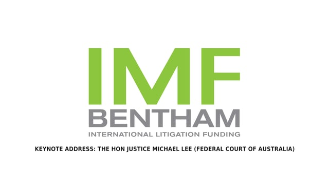 IMF Class Action Conference Keynote