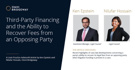 A prevailing party to a lawsuit does not lose its entitlement to a statutory fee award because it uses third party financing to pursue its claim